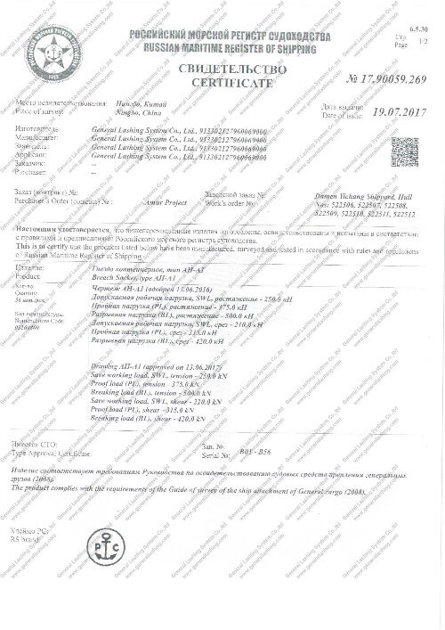 Other Classification Society Certificates